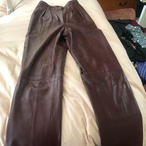 Pants - Vintage leather pants - high waisted